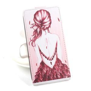 Flipové puzdro pre mobil Acer Liquid Z520 - záda dívky red - 1