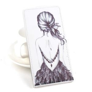 Flipové puzdro pre mobil Acer Liquid Z520 - záda dívky black - 1