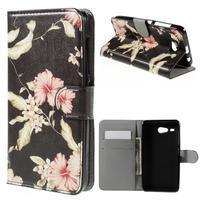 Nice koženkové pouzdro na mobil Acer Liquid Z520 - krásné květiny - 1/7