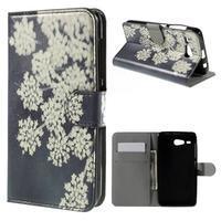 Nice koženkové pouzdro na mobil Acer Liquid Z520 - kvetoucí květy - 1/7