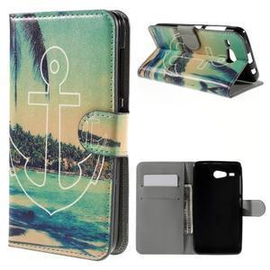 Nice koženkové puzdro pre mobil Acer Liquid Z520 - kotva - 1