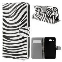 Nice koženkové pouzdro na mobil Acer Liquid Z520 - zebra - 1/7