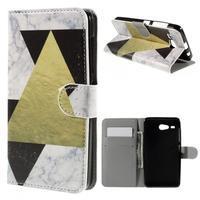 Nice koženkové puzdro pre mobil Acer Liquid Z520 - trojújelníky - 1/7