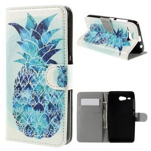 Nice koženkové puzdro pre mobil Acer Liquid Z520 - modrý ananas - 1