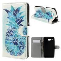 Nice koženkové puzdro pre mobil Acer Liquid Z520 - modrý ananas - 1/7