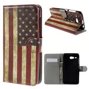 Nice koženkové puzdro pre mobil Acer Liquid Z520 - US vlajka - 1