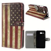 Nice koženkové puzdro pre mobil Acer Liquid Z520 - US vlajka - 1/7