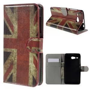 Nice koženkové pouzdro na mobil Acer Liquid Z520 - UK vlajka - 1
