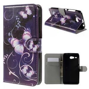Nice koženkové puzdro pre mobil Acer Liquid Z520 - kouzelní motýľci - 1