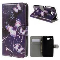 Nice koženkové puzdro pre mobil Acer Liquid Z520 - kouzelní motýľci - 1/7