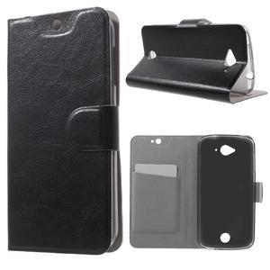 Horse peňaženkové puzdro pre mobil Acer Liquid Z530 - čierné - 1