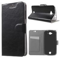 Horse peňaženkové puzdro pre mobil Acer Liquid Z530 - čierné - 1/7