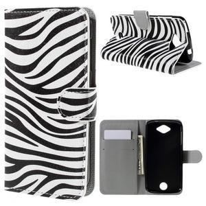 Valet peněženkové pouzdro na Acer Liquid Z530 - zebra - 1