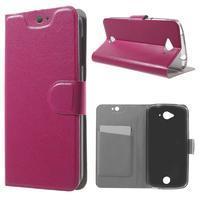 Horse peňaženkové puzdro pre mobil Acer Liquid Z530 - rose - 1/7