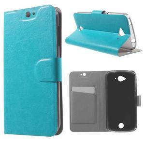 Horse peňaženkové puzdro pre mobil Acer Liquid Z530 - modré - 1