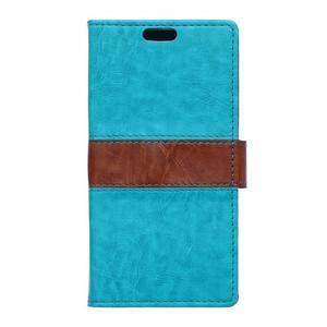 Lines PU kožené puzdro pre Acer Liquid Z530 - modré - 1