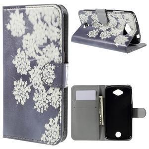 Valet peňaženkové puzdro pre Acer Liquid Z530 - kvitnúce kvetiny - 1