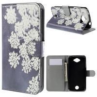 Valet peňaženkové puzdro pre Acer Liquid Z530 - kvitnúce kvetiny - 1/7