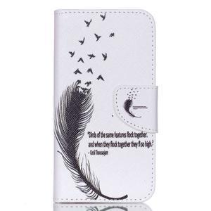 Luxy peňaženkové puzdro pre Acer Liquid Z530 - ptačí pierko - 1