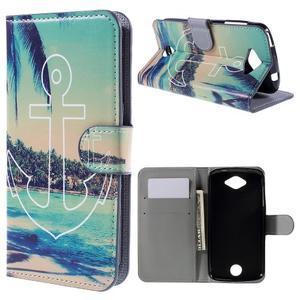 Valet peňaženkové puzdro pre Acer Liquid Z530 - kotva - 1