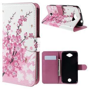 Valet peňaženkové puzdro pre Acer Liquid Z530 - kvitnúca vetvička - 1