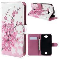 Valet peňaženkové puzdro pre Acer Liquid Z530 - kvitnúca vetvička - 1/6