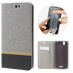 Klopové puzdro pre mobil Acer Liquid Z630 - šedé - 1
