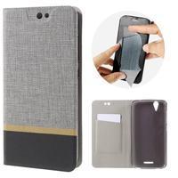 Klopové puzdro pre mobil Acer Liquid Z630 - šedé - 1/7