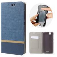 Klopové puzdro pre mobil Acer Liquid Z630 - modré - 1/7
