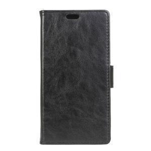 Leat PU kožené pouzdro na mobil Acer Liquid Z630 - černé - 1
