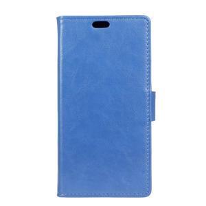 Leat PU kožené puzdro pre mobil Acer Liquid Z630 - modré - 1