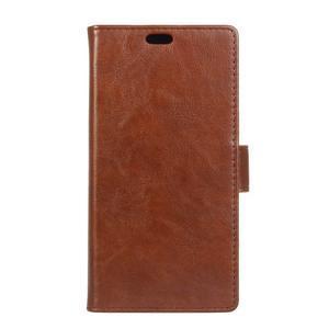 Leat PU kožené puzdro pre mobil Acer Liquid Z630 - hnedé - 1