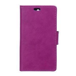 Leat PU kožené puzdro pre mobil Acer Liquid Z630 - fialové - 1