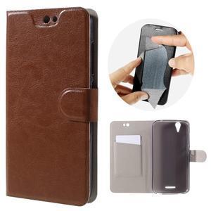 Horse peňaženkové puzdro pre Acer Liquid Z630 - hnedé - 1