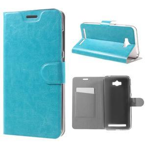 Horse peňaženkové puzdro pre Asus Zenfone Max - modré - 1