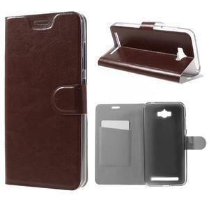 Horse peňaženkové puzdro pre Asus Zenfone Max - hnedé - 1