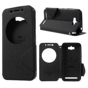 Diary peněženkové pouzdro s okýnkem na Asus Zenfone Max - černé - 1