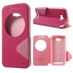 Diary peněženkové pouzdro s okýnkem na Asus Zenfone Max - rose - 1