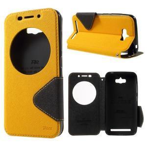 Diary peněženkové pouzdro s okýnkem na Asus Zenfone Max - žluté - 1