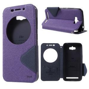 Diary peněženkové pouzdro s okýnkem na Asus Zenfone Max - fialové - 1
