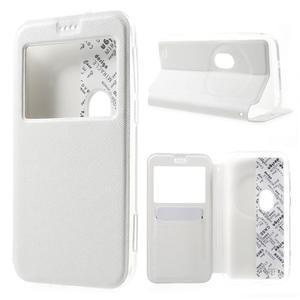 Peněženkové pouzdro s okýnkem na Asus Zenfone Zoom - bílé - 1