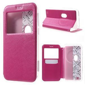 Peňaženkové puzdro s okienkom pre Asus Zenfone Zoom - rose - 1