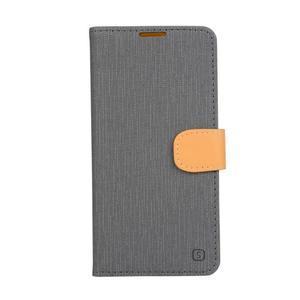 PU kožené puzdro pre Asus Zenfone Zoom - šedé - 1