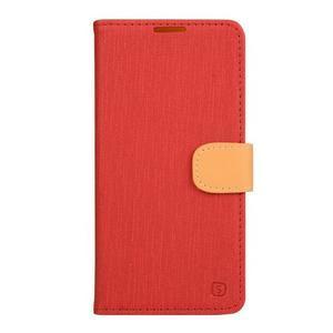 PU kožené puzdro pre Asus Zenfone Zoom - červené - 1