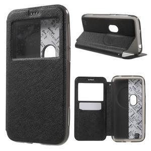 Peněženkové pouzdro s okýnkem na Asus Zenfone Zoom - černé - 1