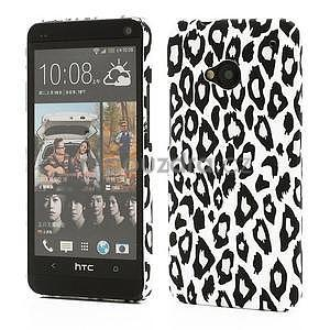 Plastový kryt na HTC One M7 - leopard - 1