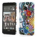 Plastový kryt pre HTC One M7 - kvety - 1/5