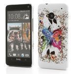 Plastový kryt na HTC One M7 -  barevní motýlci - 1/4