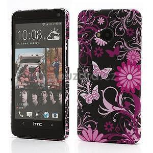 Plastový kryt na HTC One M7 - motýlci - 1