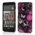 Plastový kryt na HTC One M7 - motýlci - 1/3